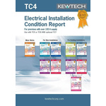 Kewtech Corporation TC4 Electrical Installation Certificate, Certificate Type Inspection & Test Schedule, For Use With