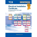 Kewtech Corporation TC8 Electrical Installation Certificate, Certificate Type Inspection & Test Schedule