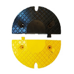 RS PRO Yes Black, Yellow Rubber Speed Bump 27mm Expandable Bolts, 220mm 400 mm 70 mm