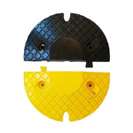RS PRO Yes Black, Yellow Rubber Speed Bump 27mm Expandable Bolts, 200mm 350 mm 50 mm