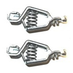 Mueller Electric Crocodile Clip, Zinc-Plated Steel Contact, 25A