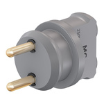 Staubli Grey, Male to Female Test Connector Adapter - Socket Size: 4mm