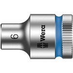Wera 6mm Hex Socket With 3/8 in Drive , Length 29 mm