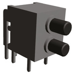 TE Connectivity Double Pole Double Throw (DPDT) Latching Miniature Push Button Switch, 20/28V dc