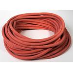 Saint Gobain Fluid Transfer Versilon™ GSR (Rubber) Flexible Tubing, Opaque Red, 9mm External Diameter, 25m Long,