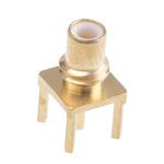 Radiall 50Ω Straight Through Hole SMC Connector, jack