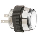 Signal Construct White Indicator, Tab Termination, 12 → 14 V, 16mm Mounting Hole Size