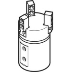 Festo 2 Finger Double Action Pneumatic Gripper, DHPS-16-A-NC