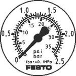 Festo 2 Finger Double Action Pneumatic Gripper, DHRS-16-A