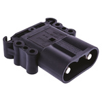 Rema Black Chassis Mount 2P Industrial Power Plug, Rated At 160.0A, 150.0 V
