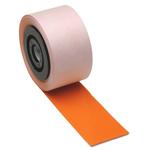 Brady on Orange Label Printer Tape, 101.6 mm Width