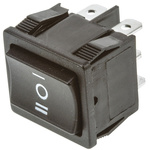TE Connectivity Double Pole Double Throw (DPDT), On-Off-On Rocker Switch Panel Mount
