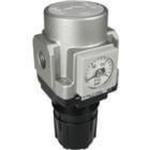Modular air regulator with check valve G1/4 port + bracket + integrated pressure gauge