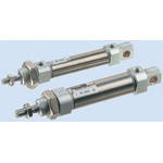 SMC Pneumatic Roundline Cylinder 10mm Bore, 25mm Stroke, C85 Series, Single Acting