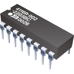 Bourns Isolated Resistor Network 68Ω ±2% 7 Resistors, 2W Total, DIP package 4100R Through Hole