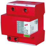 Dehn DCB Series 600 V dc Maximum Voltage Rating 15kA Maximum Surge Current Type 1 Arrester, Type 2 Arrester, DIN Rail