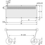 19-inch Rear Panel, 3U, 28HP, Ventilated, Grey, Aluminium