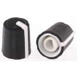 Sifam Potentiometer Knob, Push-On Type, 11mm Knob Diameter, Black, D Shaped Shaft Type, 4mm Shaft