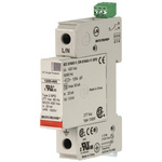 Bourns 1250 Series 150 V Maximum Voltage Rating 50kA Maximum Surge Current 1 Pole Protector, DIN Rail Mounting