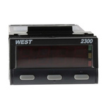West Instruments N2300 PID Temperature Controller, 49 x 25mm, 2 Output Relay, 12 → 30 V dc, 24 V ac Supply