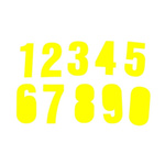 RS PRO Yellow Alphanumeric Lettering Label, 75mm