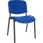 RS PRO Fabric Stacking Chair 140kg Weight Capacity Blue