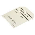 RS PRO Pre-Printed Tie Label-Serviced By-. Quantity: 50