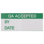 RS PRO Adhesive Pre-Printed Adhesive Label-QA Accepted-. Quantity: 140