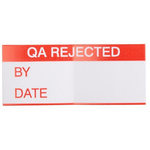 RS PRO Adhesive Pre-Printed Adhesive Label-QA Rejected-. Quantity: 140