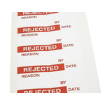 RS PRO Adhesive Pre-Printed Adhesive Label-Rejected-. Quantity: 140