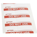 RS PRO Adhesive Pre-Printed Adhesive Label-Do Not Use-. Quantity: 140