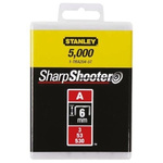 Stanley 6mm Cable Staples x 5000