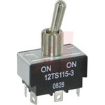 SWITCH; TOGGLE; 2 POLE; 2 POSITION; SOLDER TERMINAL; STANDARD LEVER