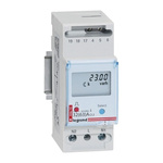 Legrand EMDX3 1 Phase LCD Digital Power Meter with Pulse Output, Type Electronic