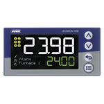 Jumo diraTRON DIN Rail PID Temperature Controller, 96 x 48mm 3 Input, 3 Output Relay, 110 → 240 V ac Supply