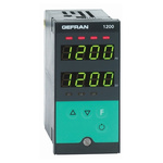 Gefran 1200 PID Temperature Controller, 96 x 48 (1/8 DIN)mm, 2 Output Relay, 100 V ac, 240 V ac Supply Voltage ON/OFF