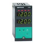 Gefran 1200 PID Temperature Controller, 48 x 96 (1/8 DIN)mm, 2 Output Logic, Relay, 100 → 240 V ac/dc Supply