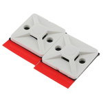 HellermannTyton Self Adhesive White Cable Tie Mount 19 mm x 19mm, 4.4mm Max. Cable Tie Width