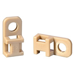 HellermannTyton Beige Cable Tie Mount 10.2 mm x 20.5mm, 4.6mm Max. Cable Tie Width