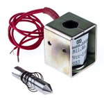 Mecalectro Linear Solenoid, 12 V dc, 1N, 27 x 22 x 20 mm