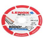 Lenox Aluminium Oxide Cutting Disc, 115mm x 1.3mm Thick, Medium Grade, P80 Grit