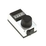 Vishay Potentiometer Knob, Dial Type, 17.7mm Knob Diameter, Silver, 6.35mm Shaft