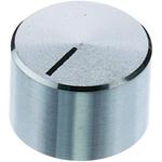 OKW Potentiometer Knob, Grub Screw Type, 22.5mm Knob Diameter, Chrome, 6mm Shaft