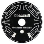Ohmite Potentiometer Dial, Dial Type, Black, 6.35mm Shaft, For Use With N Rheostat and Tab Switch Models, P Rheostat
