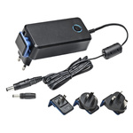 Mascot, 28W AC DC Adapter 15V dc, 1.86A, 1 Output Power Adapter, 2 Pin IEC 320 C8, Australia, European Plug, UK, US