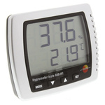 Testo 608-H1 Digital Hygrometer, Max Temperature +50°C, Max Humidity 95%RH With RS Calibration