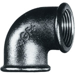 Georg Fischer Malleable Iron Fitting Elbow, 1-1/2 in BSPP Female (Connection 1), 1-1/2 in BSPP Female (Connection 2)
