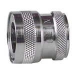 Straight Hose Coupling 1/2in Coupler to Threaded, 1/2 in BSP Female, Stainless Steel