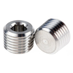 Legris Stainless Steel Hexagon Plug 1/4in R(T) Male