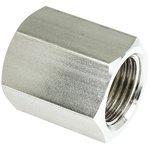Legris Stainless Steel Hexagon Straight Coupler 1/2in G(P) Female x 1/2in G(P) Female